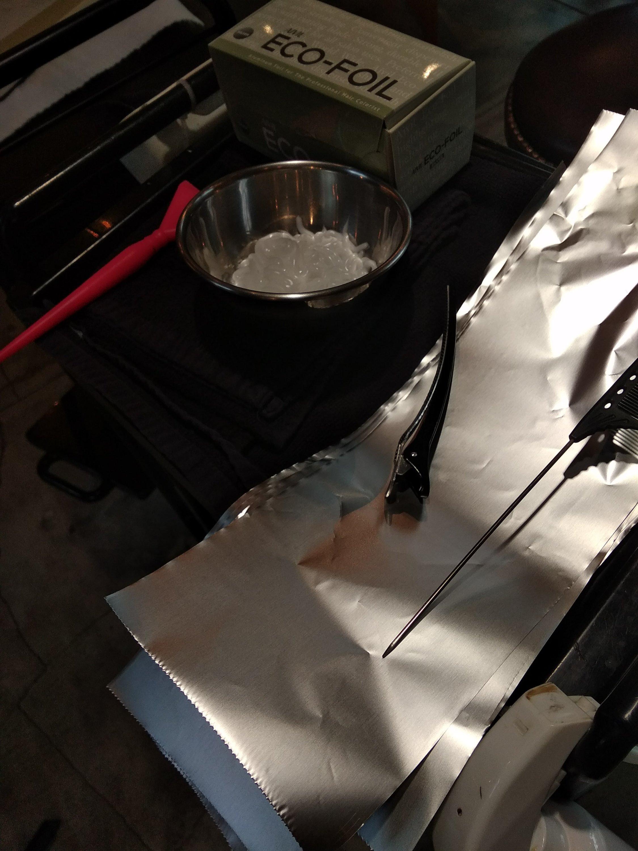 バレイヤージュに使用する道具